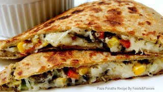 Pizza Paratha Indian Veg Brunch breakfast recipes