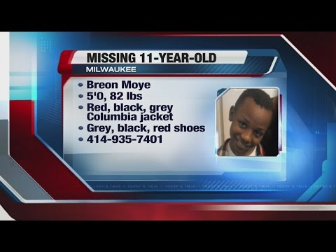 11-year-old Milwaukee boy missing: Police need your help to find Breon Moye