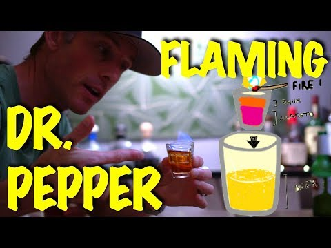 How To Make a Flaming Dr. Pepper Shot - Bartending Pro