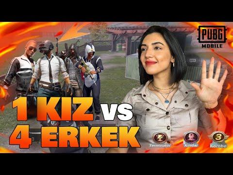 ERKEKLERE MEYDAN OKUDUM !! | PUBG Mobile 1vs4 (Solo vs Squad)