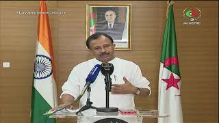 وزارة الشؤون الخارجية / وزير الشؤون الخارجية والجالية الوطنية بالخارج يستقبل نظيره الهندي