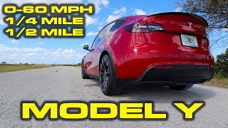 0-60 in? * Tesla Model Y Performance Testing * 1/4 Mile, 1/2 Mile by DragTimes