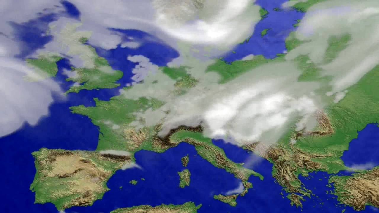 Cloud forecast Europe 2016-07-10