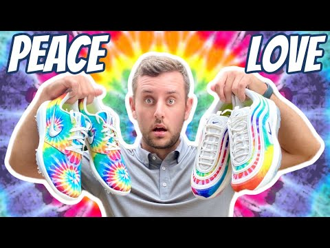 Nike Golf Roshe G Tour + Air Max 97 G Golf Shoes PEACE & LOVE Collection | Limited Edition