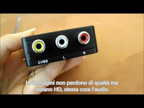 Convertitore adattatore da HDMI a AV Swees alta qualità 1080P