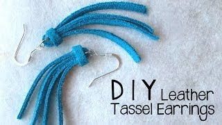 DIY Leather Tassel Earrings - Easy Jewelry Making Tutorial - YouTube