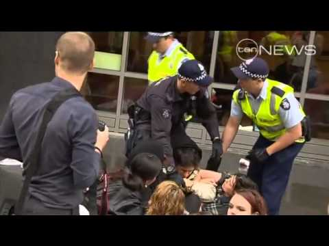 Ten News report on Occupy Sydney, Melbourne & London protests