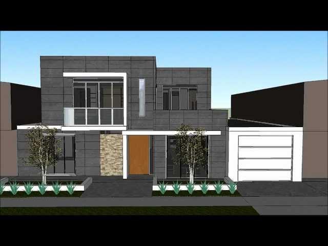 Planos gratis casa moderna minimalista parte 1 for Casa moderna 3 parte 2