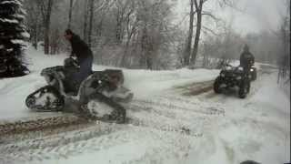 7. Polaris Sportsman 550 Prospector Tracks Deep Snow Riding