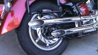 5. 2008 Yamaha VStar Classic stock exhaust to Jardine Rumblers Drag Pipe Slip-On.mpg