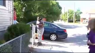 Woman sends dogs after news crew on MSN Video.