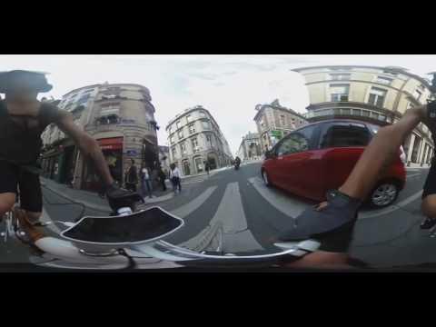 BAMBOOBIKEWORLDTOUR Paris in 360° rotation - Montorgueil to Vendôme