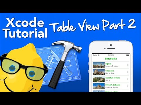 XCode 5 Tutorial Table View Part 2…