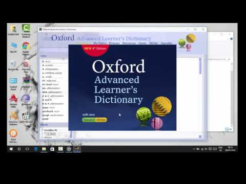 How to install Oxford Advanced Dictionary 9th Edition NEW 2016