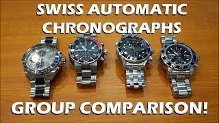 Side-by-side group comparison of these mid-tier Swiss luxury automatic chronographs, all featuring the ETA Valjoux 7750 (or Sellita SW500) movement.Like on Facebook: https://www.facebook.com/PerthWAtchYouTube/#automaticwatch #chronograph #swisswatchETA Valjoux 7750 / Sellita SW500 watches featured:TAG Heuer Formula Caliber 16 (CAZ2012.BA0970) - https://www.tagheuer.com/en-us/watches/tag-heuer-formula-1-calibre-16-automatic-chronograph-44-mm-caz2012-ba0970Oris Aquis Titan Chronograph (OR674-7542-7154MB) - https://www.oris.ch/en/watches/oris-divers-titan-chronograph/01-674-7542-7154-07-8-24-70pebOmega Seamaster Diver 300m Chronograph 41.5mm (213.30.42.40.01.001) - http://www.omegawatches.com/watches/seamaster/diver-300-m/chronograph-415-mm/21330424001001/MontBlanc Sport 3273 Chronograph - http://www.authenticwatches.com/montblanc-sport-3273.html#.WJfsCW997Dc===========Perth WAtch - Sharing my passion for horology and watches. Enjoy the videos on watch reviews, general thoughts & discussions, side-by-side comparisons, horology topics, and more!Watch Reviews Playlist: https://www.youtube.com/watch?v=h8DySE9bYGU&list=PL1qbhxREC4LQGhBi-ErvsxVz3Kc5P4FOxWatch Topics & Discussions: https://www.youtube.com/watch?v=u3IWov7lrrk&list=PL1qbhxREC4LT9JMopfMG2-wu6rFhsJCIuSubscribe: https://www.youtube.com/channel/UCjBOEG8LoZOV0qOO7TdlHlA?sub_confirmation=1===========Music:Prelude in C (BWV 846) Kevin MacLeod (incompetech.com)Licensed under Creative Commons: By Attribution 3.0 Licensehttp://creativecommons.org/licenses/by/3.0/