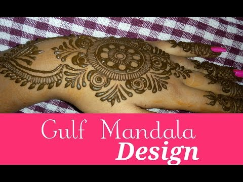 Beautiful Latest Simple Easy Arabic Gulf Mandala Henna Mehndi