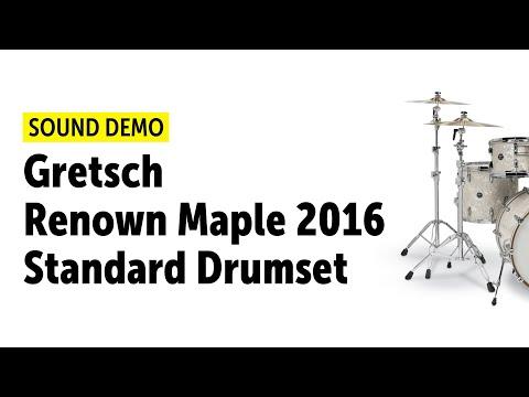 Gretsch Renown Maple 2016 Standard Drumset Sound Demo