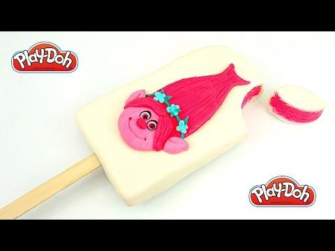 Пластилин Плей-до. Делаем мороженое с героями мультика Тролли. Игрушкин ТВ - DomaVideo.Ru