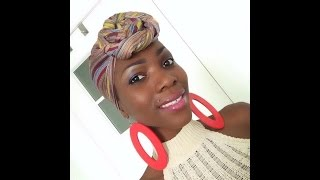 How to tie a top knot Headscarf
