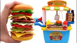 Video Toy Giant Hamburger Learn Fruits & Vegetables with Toys for Kids MP3, 3GP, MP4, WEBM, AVI, FLV November 2017