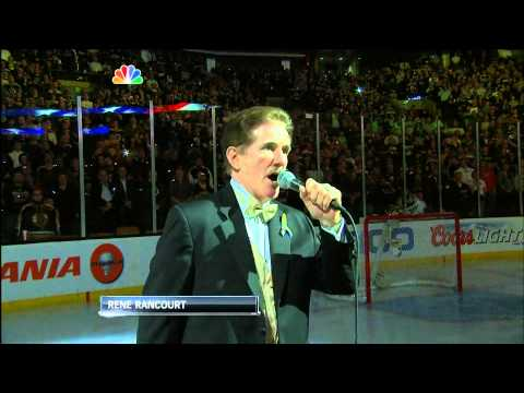 boston - The Boston Bruins play a touching