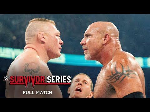 FULL MATCH - Goldberg vs. Brock Lesnar – Mega Match: WWE Survivor Series 2016