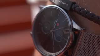 Sem Lewis Metropolitan Finchley men's chronograph watch black grey/silver grey