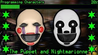 How will The Puppet and Nightmarionne work in Ultimate Custom Night?