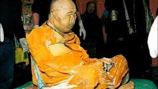 Cameras show the mummified body of Buddhist monk Lama Itigilov moving inside the Ivolginsky datsan temple in siberia.