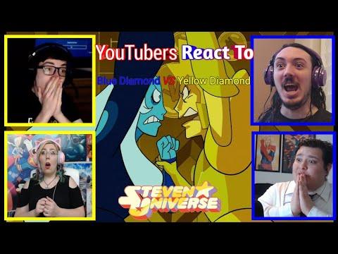 Youtubers React To Blue Diamond VS Yellow Diamond (Steven Universe)