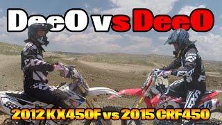 9. DeeO vs DeeO | 2012 Kawasaki KX450F vs. 2015 Honda CRF450 | Aztec Raceway