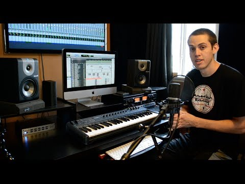 recording - A detailed overview of what you need to record at home. Computer, DAW, Interface, Midi controller, Studio monitors, connecting a T.V and outboard compressor....
