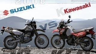 2. 2008 Kawasaki KLR650 vs. Suzuki DR650SE Preview - MotoUSA