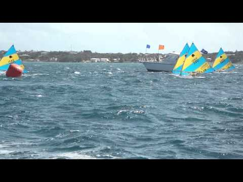 Bahamas Sunfish Worlds 2009 Race Finish D