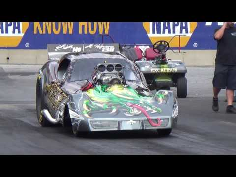 Excalibur Funny Car Super Chevy Maple Grove Run#1 2016