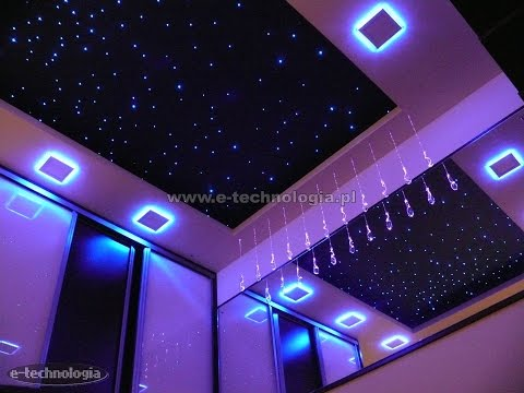 oświetlenie taśmami LED sufitu w sypialni