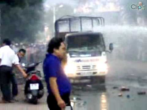 Clip cháy xe tại Trà Vinh