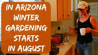 In today's video, I will share my seed starting process for my winter garden here in Arizona. I am starting tomato, cucumber, bell...