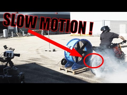 Motorcycle Tire Burnout And Explosion Caught In Super