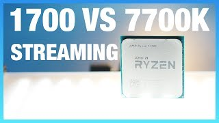 We set forth to benchmark whether the AMD R7 1700 CPU is actually better at livestreaming games than the Intel i7-7700K CPU.