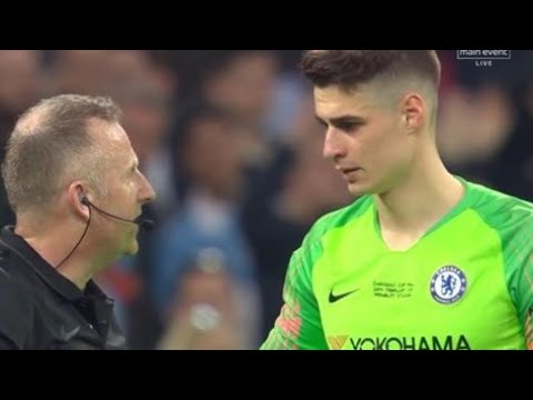 Carabao Cup : Chelsea 0 (3) - 0 (4) Man City | ALL PENALTIES + KEPA INCIDENT, Refusal To Be Subbed