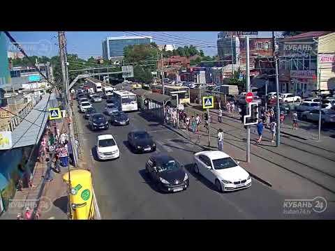 Авария с велосипедистом в Краснодаре