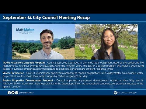 September 14 2021 San Jose City Council Meeting Recap