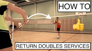 Video BADMINTON TECHNIQUE #52 - HOW TO RETURN THE LOW SERVE AND FLICK SERVE MP3, 3GP, MP4, WEBM, AVI, FLV November 2018