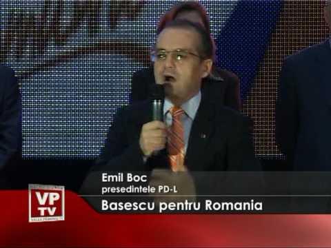Basescu pentru Romania