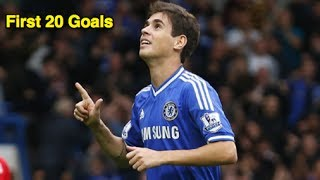Oscars ersten 20 Treffer für den FC Chelsea