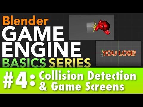 Blender Game Engine Basics Tutorial #4 : Game Screens & Collision #b3d #gamelogic