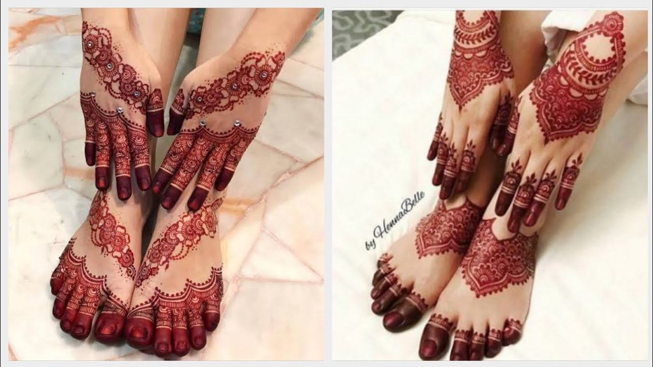 stylish foot mehndi design ideas