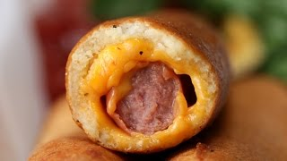 Cheesy Fried Hot Dogs by Tasty