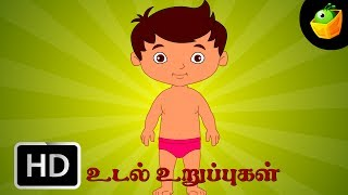 Udal Uruppugal - Chellame Chellam - Cartoon/Animated Tamil Rhymes For Kids